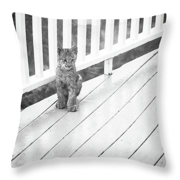 Time Out Bw Throw Pillow
