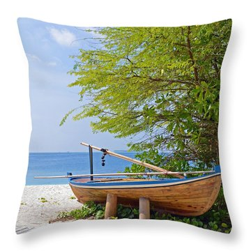 Time Out Throw Pillow by Corinne Rhode