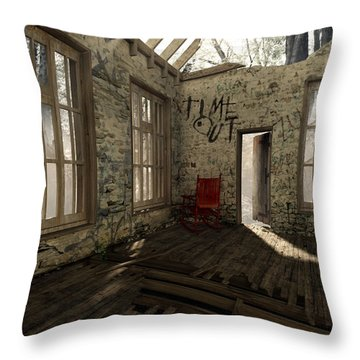 Time Out Throw Pillow by Cynthia Decker