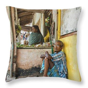 Throw Pillow featuring the photograph Kumarakom by Marion Galt
