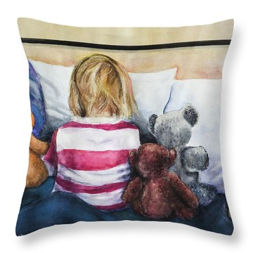 Time Out With My Friends Throw Pillow
