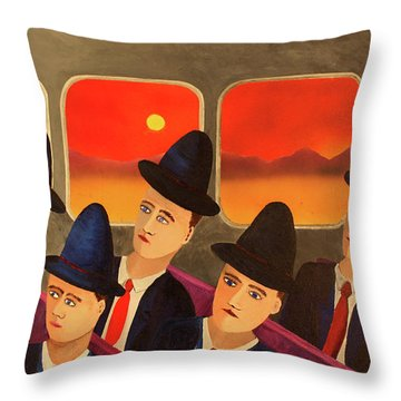 Time Passes By Throw Pillow