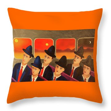 Time Passes By Throw Pillow by Thomas Blood