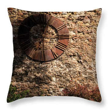 Time Passes Throw Pillow by Rae Tucker