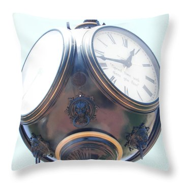 Time Piece Throw Pillow