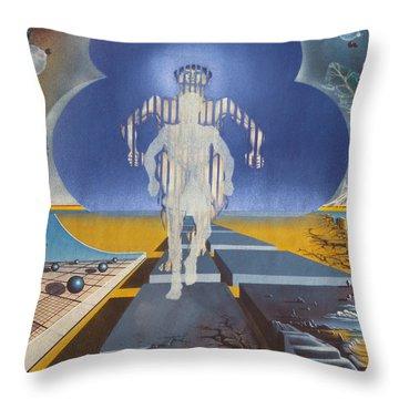 Time Runner Throw Pillow
