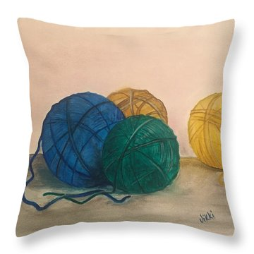 Time To Crochet Throw Pillow