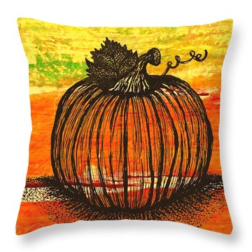 Time To Get Pumkin Throw Pillow