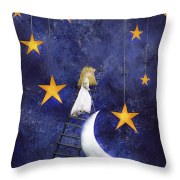 Time To Go To Sleep By Sannel Larson Throw Pillow