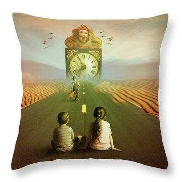 Throw Pillow featuring the digital art Time To Grow Up by Nathan Wright