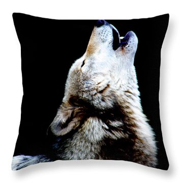 Time To Howl Throw Pillow