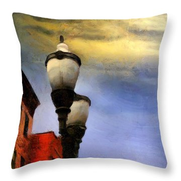 Time To Light The Lamps Throw Pillow by RC deWinter