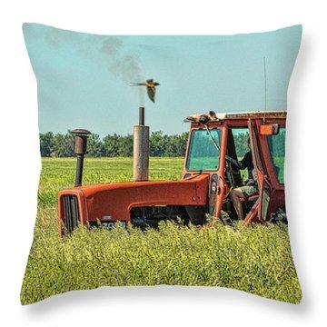 Time To Mow Throw Pillow