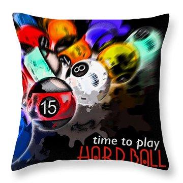 Time To Play Hard Ball Black Throw Pillow