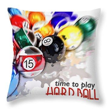 Time To Play Hard Ball White Throw Pillow