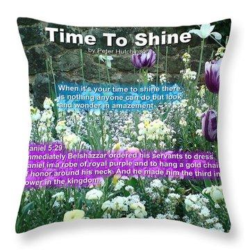 Time To Shine Throw Pillow