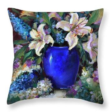 Time To Shine Lilies Throw Pillow