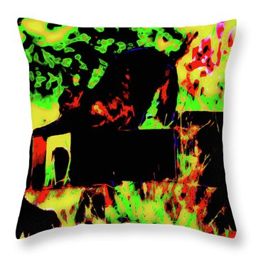Time To Stretch Throw Pillow by Gina O'Brien