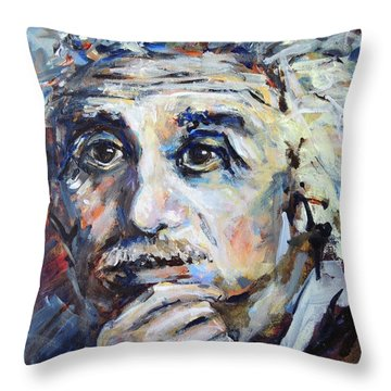 Time To Think Throw Pillow by Mary Schiros