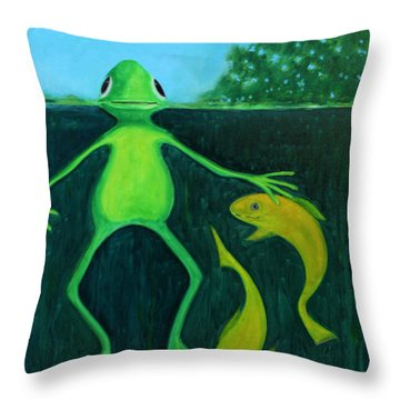 Time To Think Throw Pillow