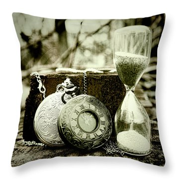 Time Tools Throw Pillow