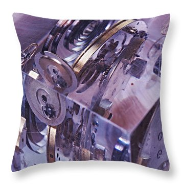 Time Trapped Throw Pillow