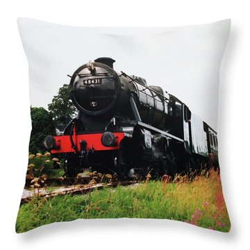 Throw Pillow featuring the photograph Time Travel By Steam by Martin Howard