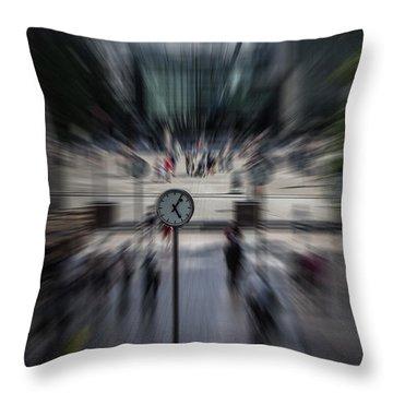 Time Traveller Throw Pillow by Martin Newman