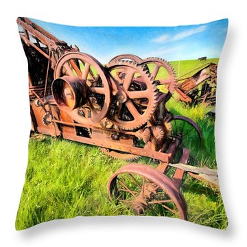 Throw Pillow featuring the painting Time Vanished IIi by Dan Carmichael