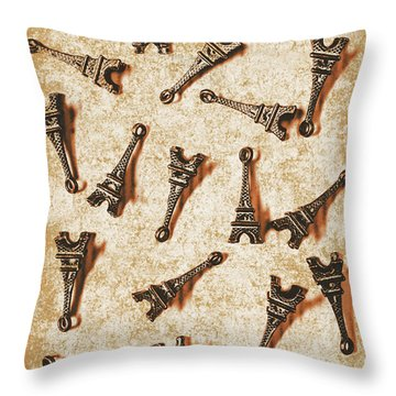 Time Worn Trinkets From Vintage Paris Throw Pillow