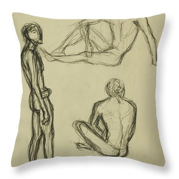 Timed Gestures Exercise Throw Pillow