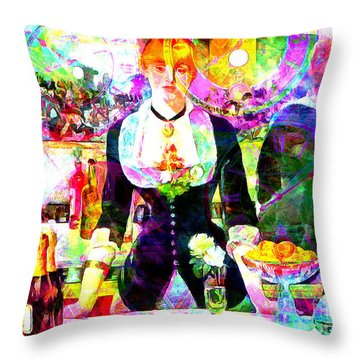 Timeless Art A Bar At The Den Folies Bergere 20160228 Throw Pillow
