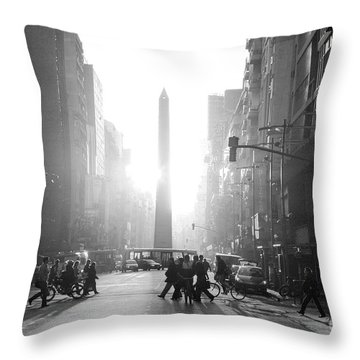 Throw Pillow featuring the photograph Timeless Buenos Aires by Bernardo Galmarini