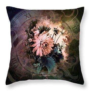 Timeless Dahlia Throw Pillow