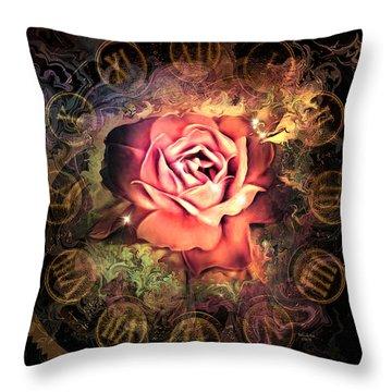 Timeless Rose Throw Pillow