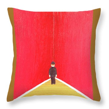 Timeout Throw Pillow by Thomas Blood