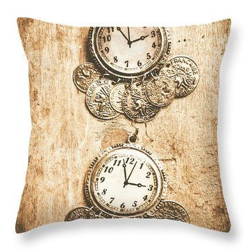 Timepieces From Bygone Fashion Throw Pillow