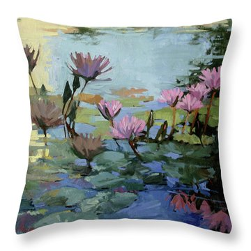 Times Between - Water Lilies Throw Pillow