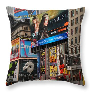 Times Square 4 Throw Pillow by Andrew Fare