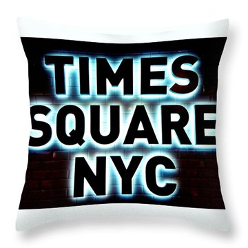 Times Square 4 Throw Pillow by NDM Digital Art