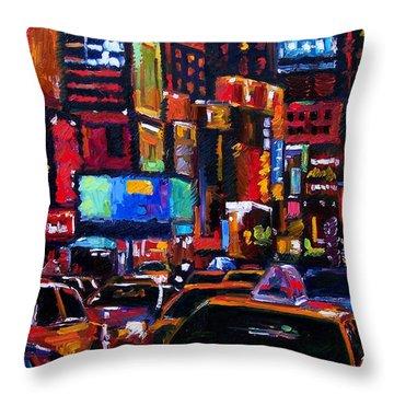 Times Square Throw Pillow by Debra Hurd
