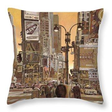 Times Square Throw Pillows