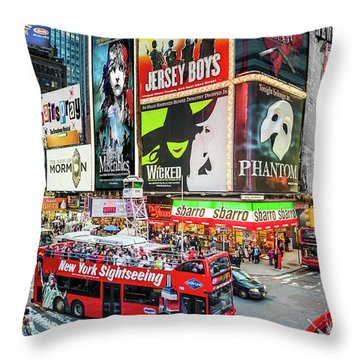 Times Square II Special Edition Throw Pillow