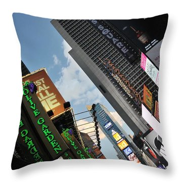 Times Square Throw Pillow by Louise Fahy