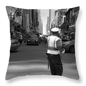 Times Square, New York City  -27854-bw Throw Pillow