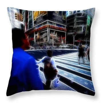 Times Square New York City Throw Pillow by Lawrence Christopher