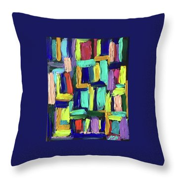 Times Square Nighttime Throw Pillow