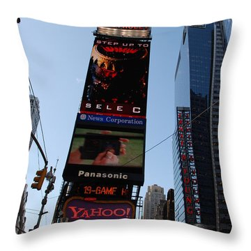 Times Square Throw Pillow by Rob Hans