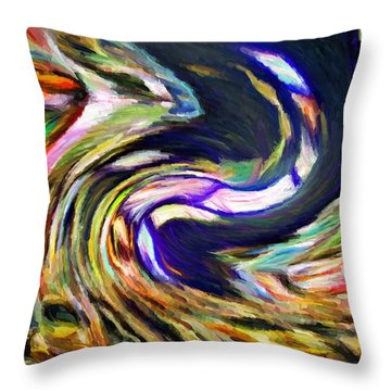 Times Square Swirl Throw Pillow