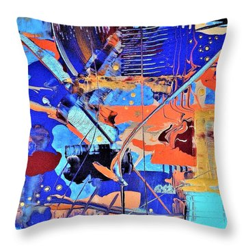 Timestorm Throw Pillow
